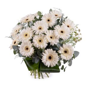 Bouquet of White Gerbera Daisies