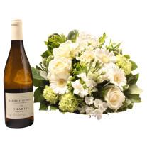 White bouquet with Chablis